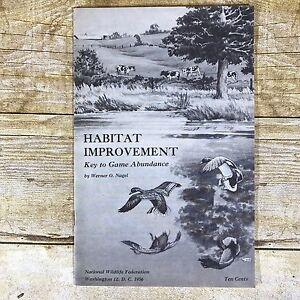 Vintage Conservation Brochure National Wildlife Federation 1956 Game Habitat