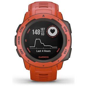 Garmin-Instinct-Rugged-Outdoor-GPS-Watch-Flame-Red-Wrist-HR-GLONASS-010-02064-02