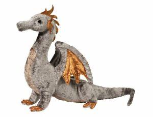 Douglas-Faust-SILVER-DRAGON-Plush-Toy-Stuffed-Animal-NEW