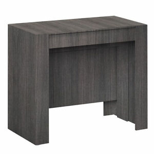 Tavolo consolle allungabile 10 posti rovere grigio casa cucina ...