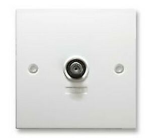 Wall PLATE SINGLE F-TYPE SCRN - Wall Plates & Outlets - AP01886