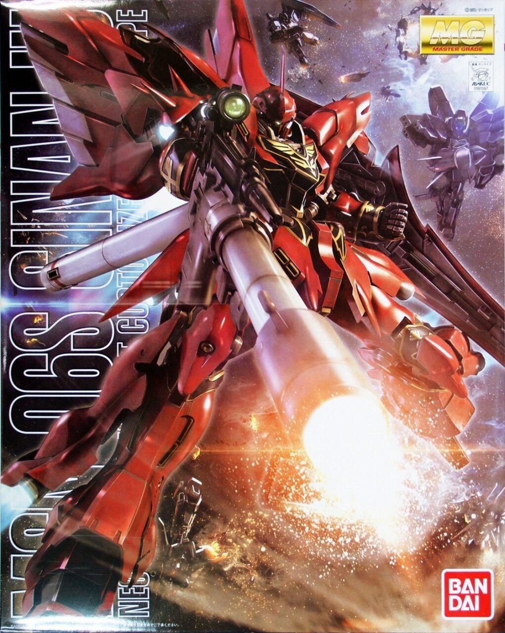 Model Kit - Bandai - MG MSN-06S Sinanju - Anime Colore 1 100 - Nuovo