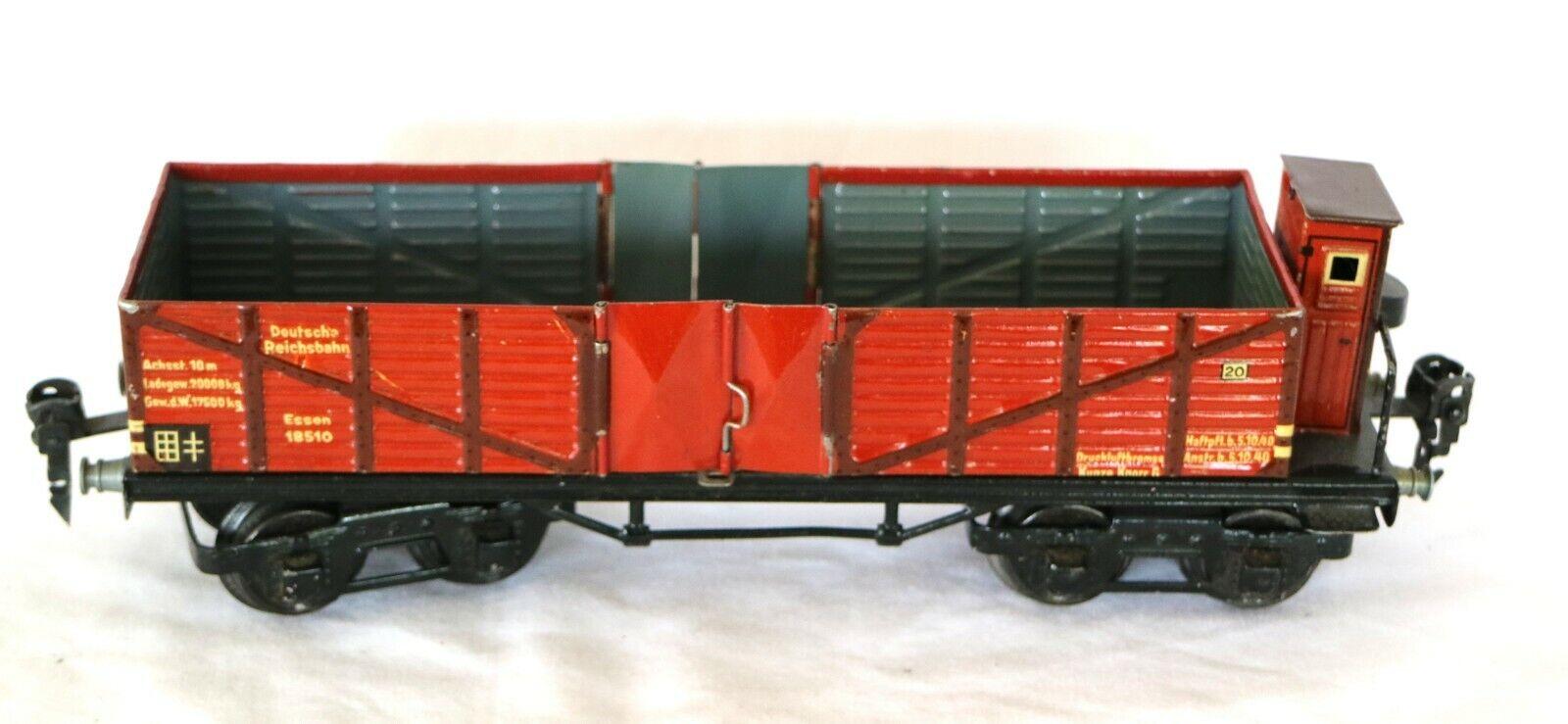 G63Q Vintage Märklin  0 Gauge Double Bogie Open Goods Wagon Cat 1851 0