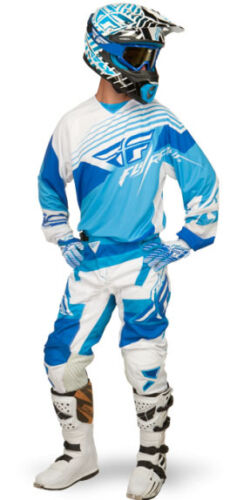CLEARANCE New Fly Racing Kinetic Blocks Graphic Pants ADULT YOUTH Blue-White ATV