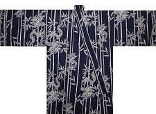"Japanese Men's Kimono Yukata Robe Dragon Made in Japan 56"" #S EK214"