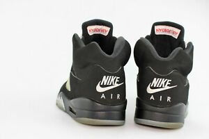 san francisco 2f069 58e9f Image is loading Air-Jordan-5-Retro-OG-Black-Metallic-Silver-