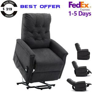 Electric-Power-Lift-Recliner-Chair-Sofa-Heavy-Duty-Motor-Overstuffed-Seat-Back