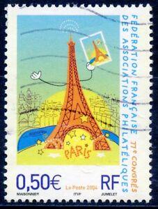 Marque De Tendance Timbre France Oblitere N° 3685 Philatelie Paris / La Tour Eiffel