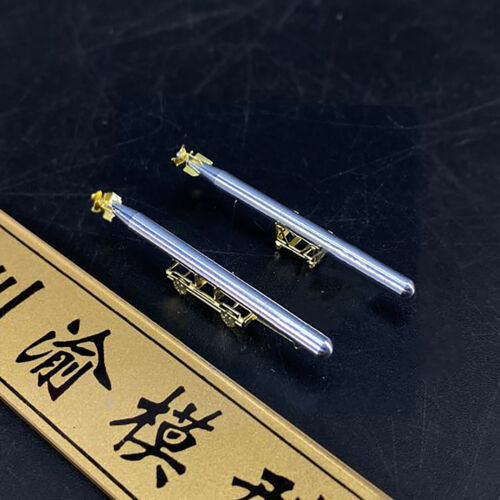 High Simulation Metal Torpedo Model with Carriages for 1//200 Warship Model Part