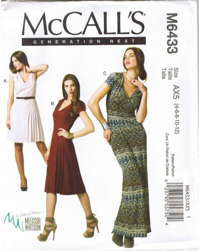 Fitted Pleated Dress Maxi Knee Length Palmer Pletsch Sewing Pattern 4 6 8 10 12