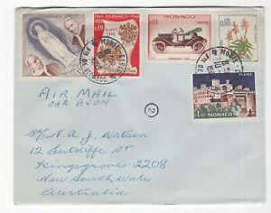 France-MONACO-1969-cover-to-Australia