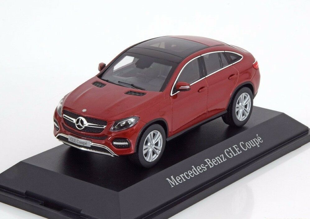 NOREV 2015 2015 2015 Mercedes Benz GLE Coupe C292 Metallic Red 1 43 DEALER EDITIONNew  3e424f