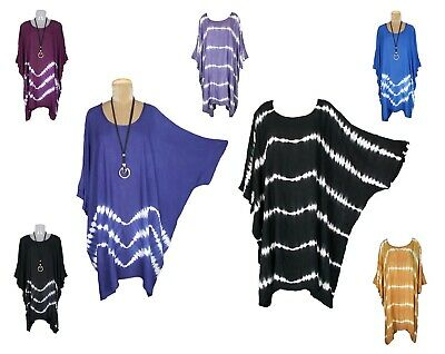 Lagenlook Quirky Oversized Viscose Wrap Tunic Top Size 20 22 24 26 28 30 32 34
