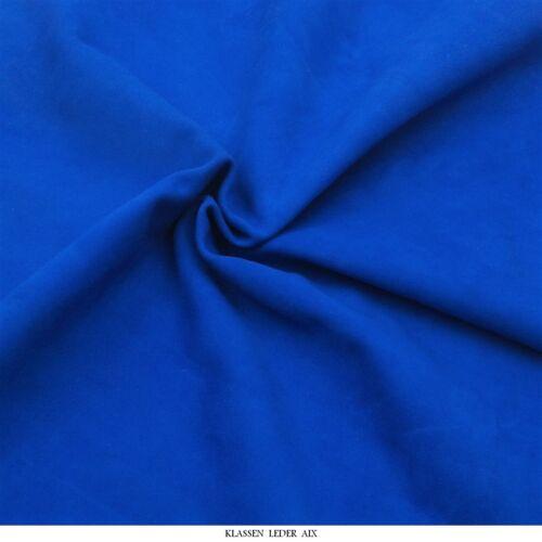 Lammvelour 1,0 mm Dick Echtes Leder Haut Velours Blau Fell Leather H123