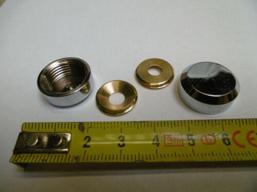 réf LC20P bis cache vis plat diamètre 20 mm en laiton chromé lot de 2