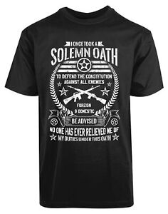 Solemn-Oath-Defend-the-Constitution-USA-American-New-Mens-Shirt-Foreign-Domestic