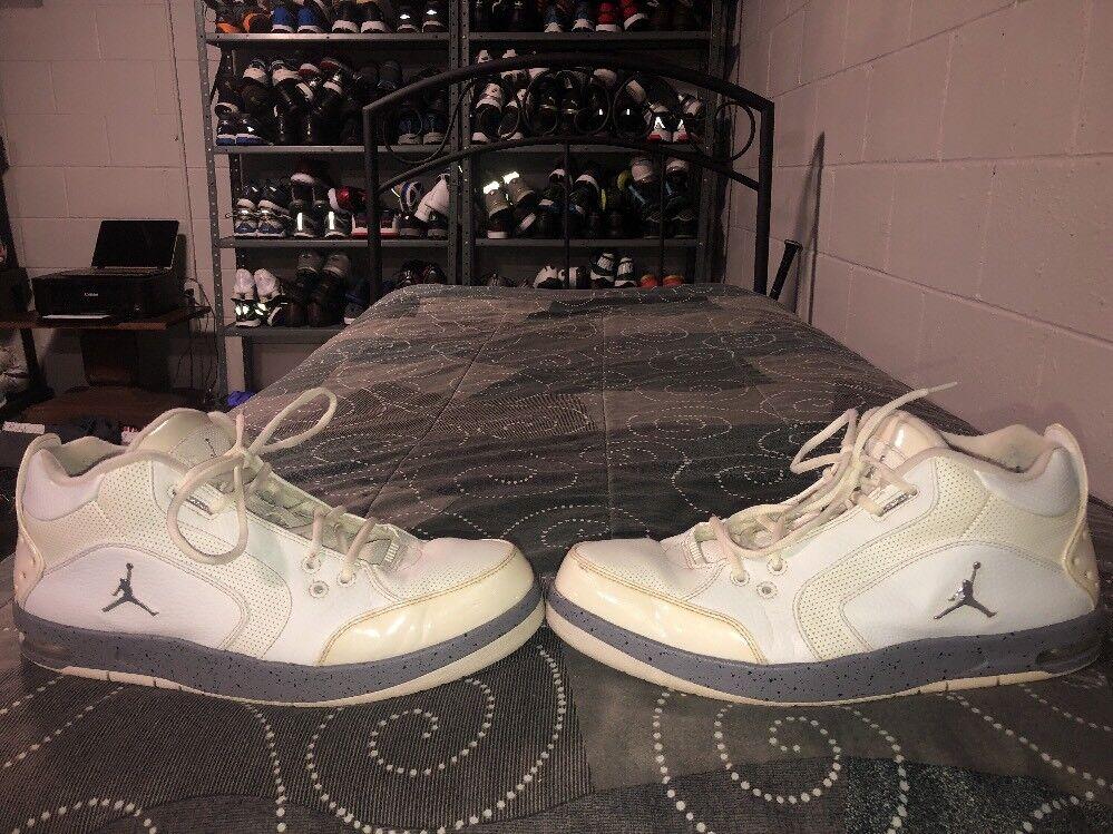 Nike Air Jordan zapatillas 1 fondo Hombre Leather zapatillas Jordan de baloncesto blanco del tamaño de cemento gris 8ae644