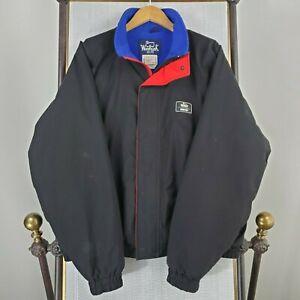 VTG-WOOLRICH-USA-Made-Size-XL-Gore-Tex-Men-039-s-Black-Jacket-Fleece-Lined-Softshell