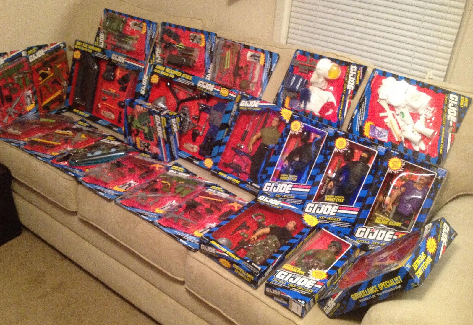 Huge Lot of 25 Brand New 12  GI Joe Figure & Accessory Kits  Hall of Fame
