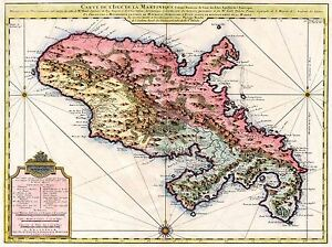ART-PRINT-POSTER-MAP-OLD-COVENS-MORTIER-MARTINIQUE-CARIBBEAN-ISLAND-NOFL0677
