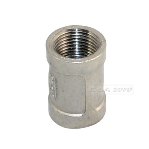 """1//8/""""--2/""""Female x Female Couple Stainless Steel 304 Threaded Pipe Fitting BSPT"""