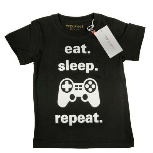 manica corta in cotone leggero stampata davanti play HAPPINESS t.shirt  repeat