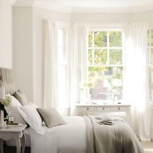 Image Is Loading IKEA Sheer White Curtains 4 Panels Lill Bed