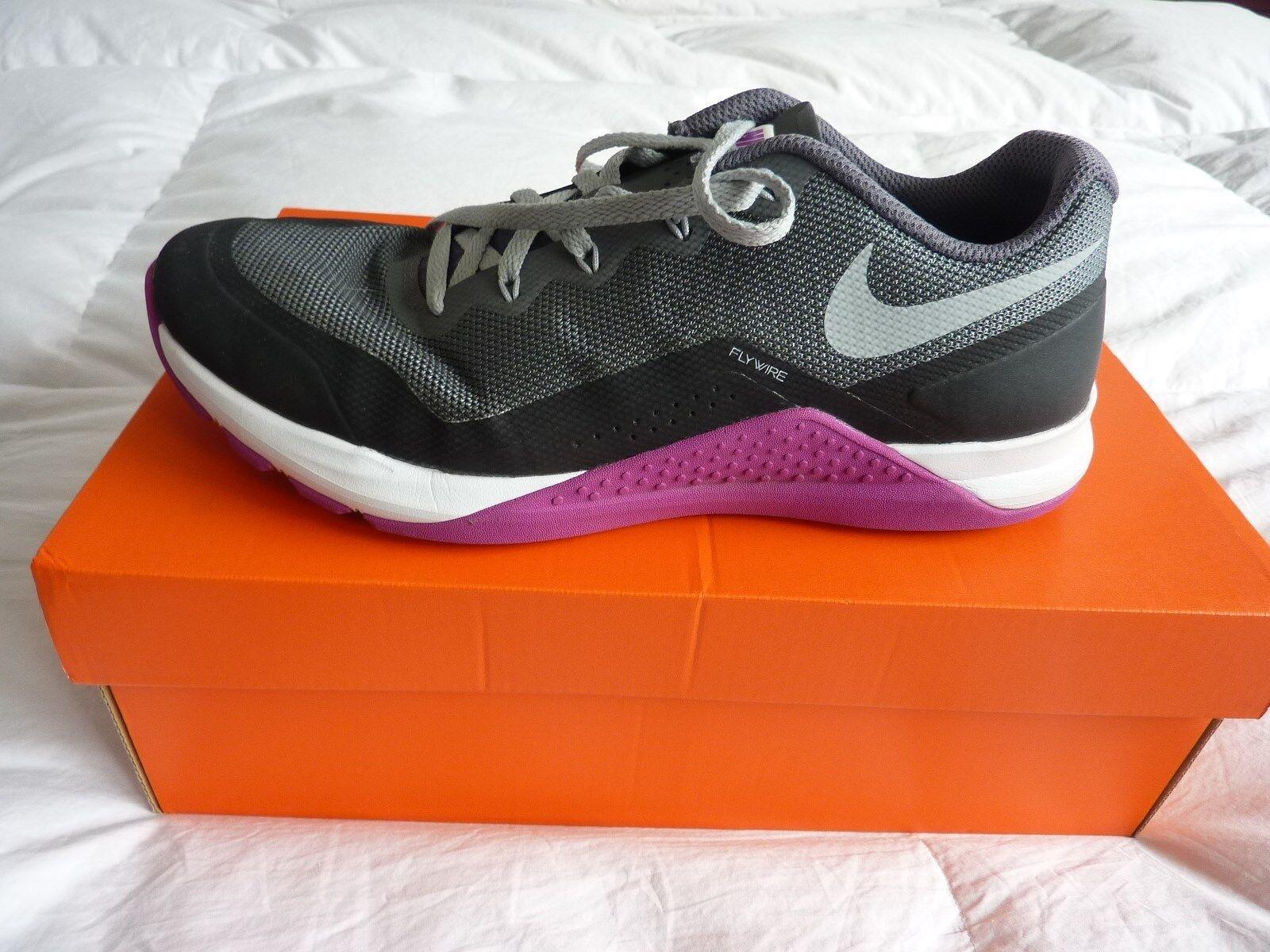Nike metcon repper dsx donne 'scarpe formazione corsa sz 10 viola grigio nero