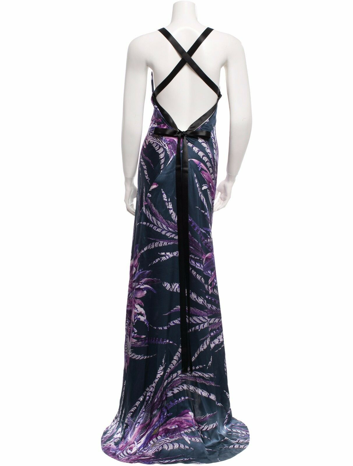 GORGEOUS NEW ,490 ROBERTO CAVALLI SILK MAXI DRESS