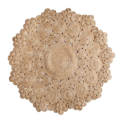 Marigold Round Handwoven Jute Rug Fab