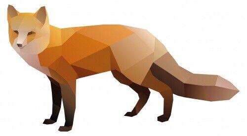 Wandtattoo Tiere Fuchs in kunstvoller Optik Wandsticker Deko