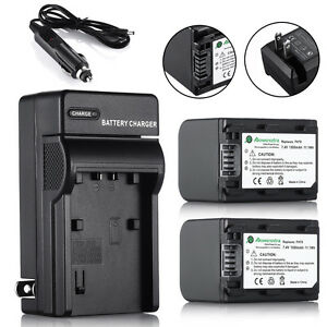 2pcs Np Fh70 Batteries Charger For Sony Np Fh70 Np Fh60
