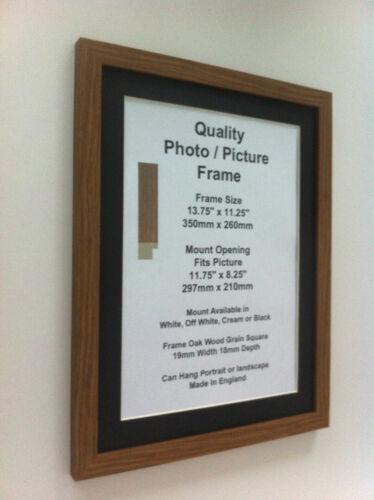 "Oak Photo Picture Frame 19mm 12x12/"" 12x13/"" 12x14/"" 12x15/"" 12x16-20/"" Mount Glass"