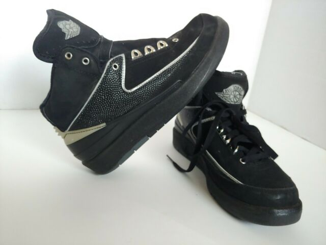pretty nice 1649d 1a252 Nike Air Jordan 2 II 2004 Basketball Shoes SNEAKERS Black Chrome Youth 6y