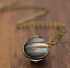 Solar-System-Pendants-Necklace-Galaxy-Planet-Necklace-S-Double-Sided-Glass-Dome thumbnail 5