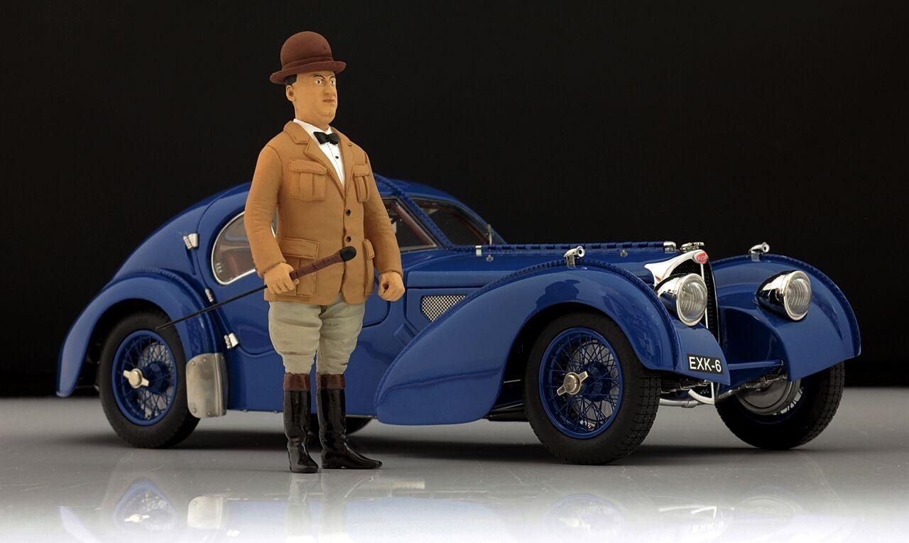 Ettore Bugatti personaggio per 1 18 Autoart 57s ATLANTIC very rar