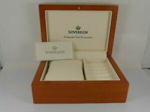 SOVEREIGN-WATCH-BOX-WOODEN-STYLE-WATCH-BOX-NEW-OLD-STOCK