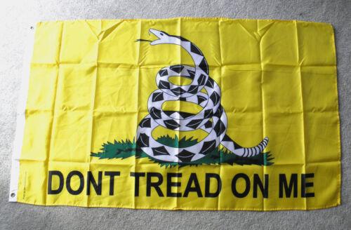 Don/'t Tread on Me Gadston Flag 2nd Amendment Nylon Polyester Flag 3 X 5 Feet Yel