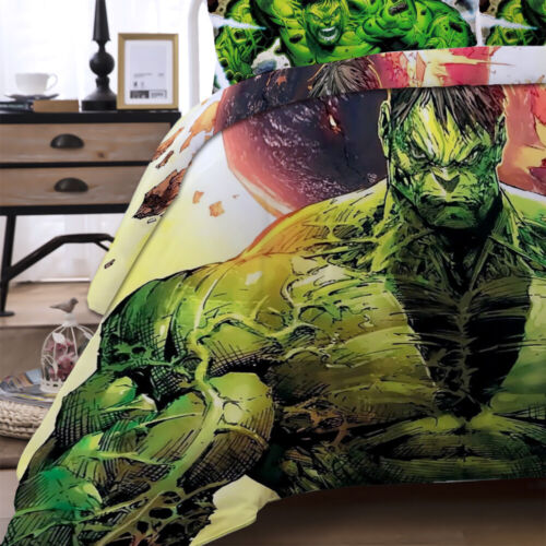 Duvet Cover Quilt Bedding Set with Pillow Cases All Sizes Muscle Hulk Design