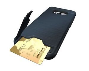 Pour-Samsung-Galaxy-S9-S8-De-Protection-Telephone-Case-Cover-avec-Toboggan-CARTE-Slot-Holder