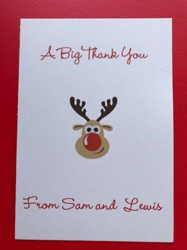10 Personalised Handmade Cartes De Noël Pack-famille-enfants-Noël Elf//Elfes