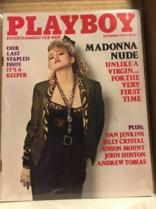 Playboy Magazine September 1985 VG Madonna Nude Last