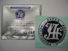 JAF JAPAN AUTOMOBILE FEDERATION Badge Decal (For DATSUN COROLLA CIVIC KE25 RX3)