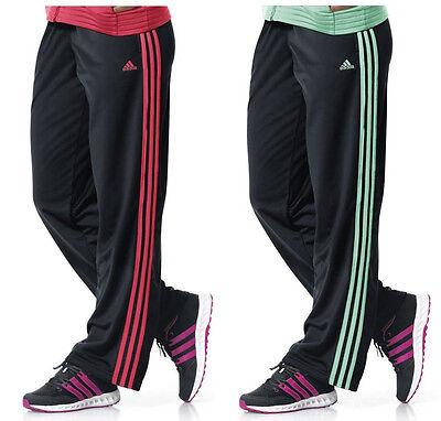 Brillante Obsesión Venta anticipada  Adidas Women Performance 3 Stripes Pants Black/ Flash Red XS   eBay