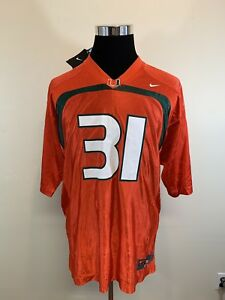 new concept 2c183 0ee80 Details about NEW NWT Nike NCAA University Of Miami Hurricanes #31 Football  Jersey Mens Medium