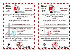 secret santa letter template personalised santa list certificate a5 secret 18429 | s l300