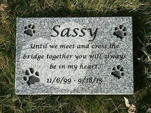 personalized pet memorial head stone grave marker 2 granite ebay