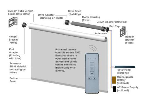 Motorized Window Blind Remote Control DIY Kit