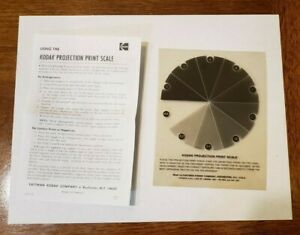 Kodak Projection Print Scale for darkroom use w/instructions