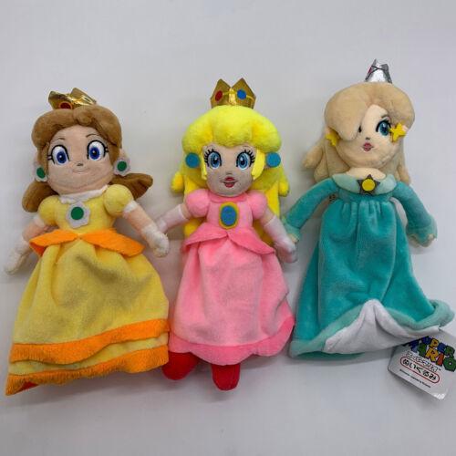 "3X Super Mario Bros Plush Princess Peach Daisy Rosalina Girl Soft Toy Doll 9/"""